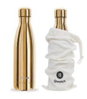 BOUTEILLE ISOTHERME 500ML QWETCH GOLD